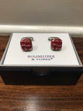 roundtree yorke Cuff Links, Red
