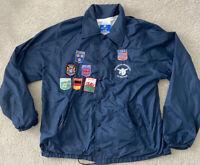 champion vtg nylon snap windbreaker jacket Operation Friendship Patches USA Navy