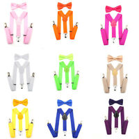 Kids Boys Girls Children Adjustable Bow Tie Set and Suspender for Baby Toddler
