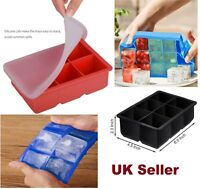 Silicone Ice Cube Tray w Lid 6 Cubes Salad Storing Freezing Baby Food,Ice Mould