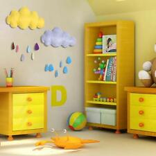 Large 3D Wall Decal Stickers Removable Cloud Raindrop for Kids Baby Room Nursery