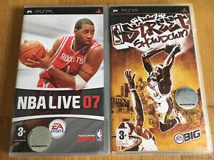 NBA Live 07 / NBA Street Showdown Sony PSP PlayStation Game Complete
