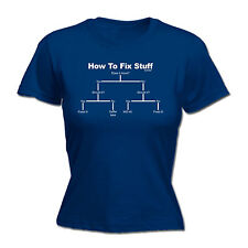 HOW TO FIX STUFF WOMENS T-SHIRT for builder funny mothers day gift present for