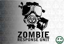 Zombie Response Unit Mask STICKER DECAL 253mmH CAR UTE MOVIE STICKERS Stencil