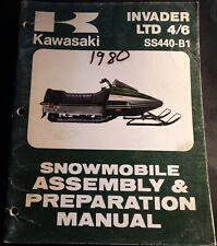 1980 KAWASAKI INVADER LTD 4/6 SS440-B1 ASSEMBLY PREPARATION MANUAL 99964-3517