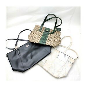 Coach Tote Bag 3 pieces set Black Leather 1136063