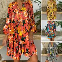 Women Dress Ladies Party Summer Mini Boho Fashion Beach Loose Vacation