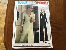 Christian Dior Vintage 1970 Dress Sewing Pattern 2607 size 12 Cut