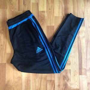 Adidas Men's Tiro 19 Training Track Pants Climacool Slim Sz Large Black/Blue