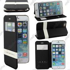 """Accessoire Housse Coque Etui S-View Flip Cover Noir Apple iPhone 6S 4,7"""" +Film"""