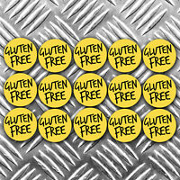 GLUTEN FREE food stickers x 15 stickers 40mm wide per sticker
