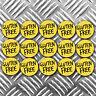 GLUTEN FREE food stickers x 15 stickers 40mm wide per sticker