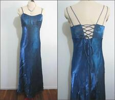 HARTS Evening Formal Cocktail DRESS Size 14 Royal Blue Corset Back Gown Long