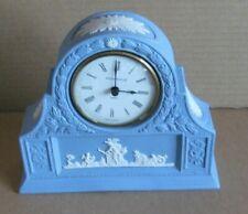 Wedgwood Jasperware Blue Mantel Clock