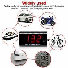 Voltmeter Car Boat Motorcycle 12v Led Digital Display Meter Mini Tester Panel