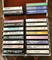 Lot Of 21 Country Cassettes Mostly 80's Merle Haggard-Willie Nelson-Randy Travis