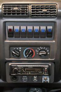 Jeep Wrangler TJ - LJ Radio Delete Switch Panel Fits 7 Carling Switches