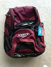 Brand New - Speedo Teamster 35L Swim Backpack, Burgundy/Black