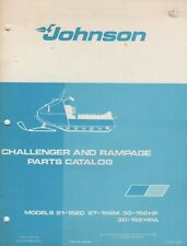 1972 JOHNSON CHALLENGER & RAMPAGE SNOWMOBILE PARTS MANUAL 262394 (640)