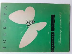 C4408/ Touropa Ferienreiseprogramm 1953 Heft 32 Seiten  Eisenbbahn