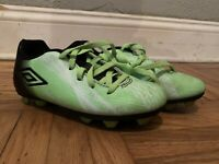 Umbro Bright Neon Green Athletic Kids Soccer Cleats Size 11 Youth Unisex Sports