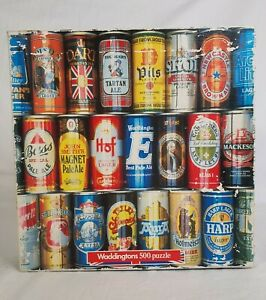 Waddingtons Vintage Jigsaw Puzzle Collectables Beer Can 500 Pieces 48x48cm