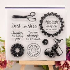 Notes Wishes Rubber Stamp Cling Diary Scrapbooking Card DIY Decors K6