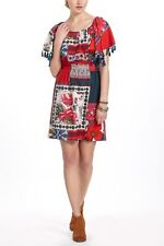 New Anthropologie Persian Rose Patchwork Dress by Vanessa Virginia Size XS