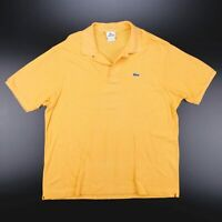 Vintage LACOSTE  Yellow 90s Short Sleeve Polo Shirt Mens XL