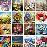 DIY Floral Flower Painting By Number Kit DIY Acrylic Oil Paint Canvas Home Decor
