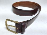 Full Grain Italian Leather Brown Made in Italy Belt 39