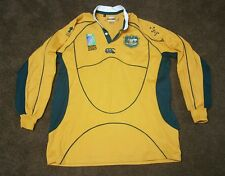 AUSTRALIA WALLABIES 2007 IRB RUGBY UNION WORLD CUP LONG SLEEVE SHIRT SIZE XL