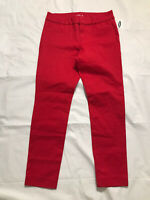 Old Navy Pixie Ankle Pants Womens Size 4 Red Slim Fit Mid Rise Stretch NWT