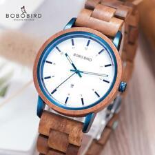 BOBO BIRD Luxury Timepieces 40mm Wood Watch Wristwatch Xmas Gifts Women Lady Her