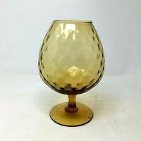 Vintage Empoli Art Glass Brandy Snifter Vase Stemmed Goblet