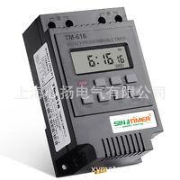 SINOTIMER 7 Days Programmable Digital Control Power Timer Switch 220V/12V AC 30A
