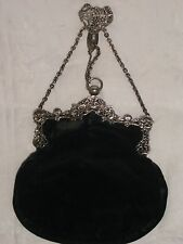 Antique Ornate silver chatelaine Sac à main William Comyns 1900 London