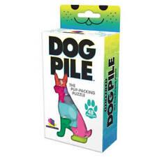 Brainwright puzzle game DOG PILE 48 Pieces puppy plastic travel educational