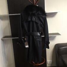 Fontani coat, black fox fur, made in Italy, sz 40, black