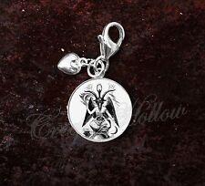 925 Sterling Silver Charm Baphomet Devil Sabbatic goat