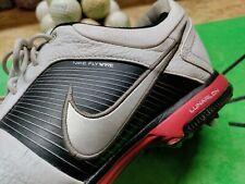 Nike Golf FLYWIRE LUNARLON Golf Shoes Sz 11.5 418471-108 EUC, White Black Red
