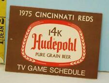 1975 Cincinnati Reds Baseball TV Game Schedule Hudepohl & Burger Beer (#8)