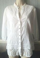 Per Una White Cotton Blouse Size 14