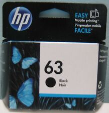 GENUINE HP 63 (F6U62AN) BLACK INK CARTRIDGE, NEW IN BOX
