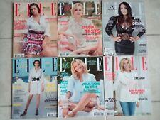 """Lot de Magazines """"ELLE"""" récents bon état 18 N°S."""