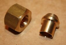 """Solder Olive/Nipple and Gland Nut for Copper Pipe 3/8""""BSP x 3/8"""" Tube"""
