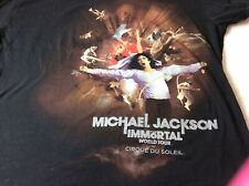 Micheal Jackson IMMORTAL world Tour t shirt Cirque du soleil Size XL