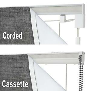 SPEEDY COMPLETE ROMAN BLIND KIT Cord Lock Corded Operated or Cassette Child Safe