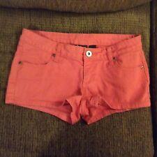 Juniors Pink City Streets Short Shorts Size 1