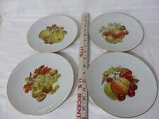 VINTAGE Porcelain Plate ROSEPORT Fruit Set of FOUR Bavaria Germany FREE SHIPPING